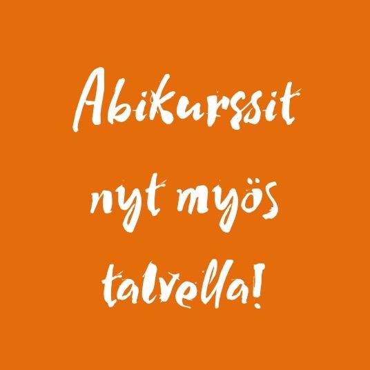 Talven abikurssit Helsingissä kevään kirjoitusten alla