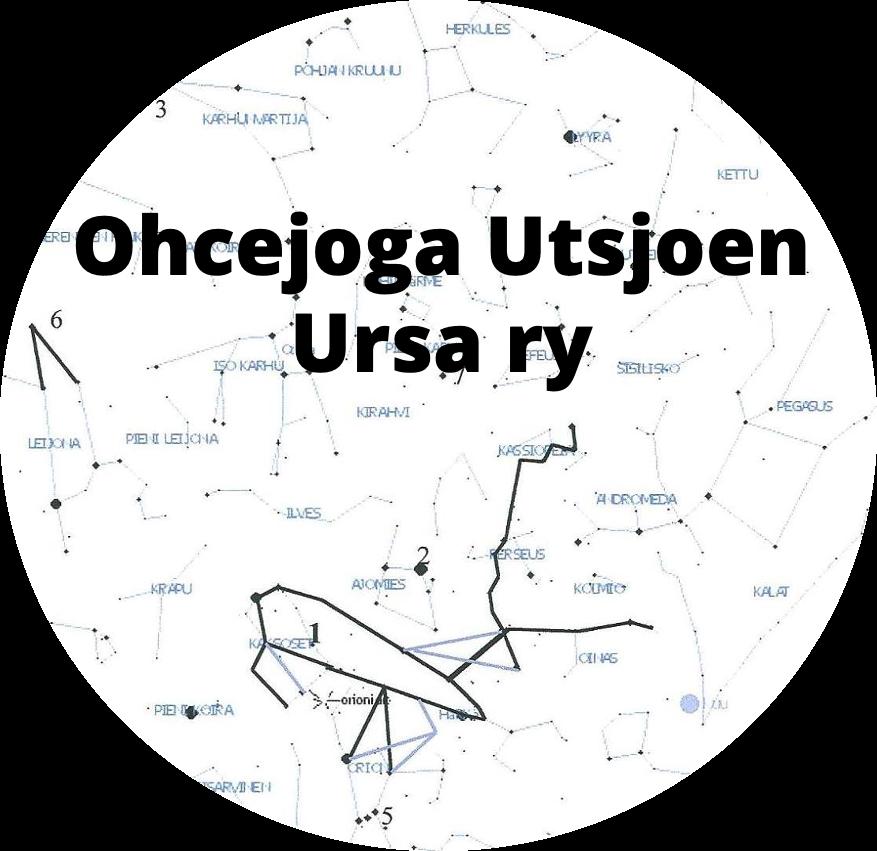 Logo: Ohcejoga Utsjoen Ursa ry