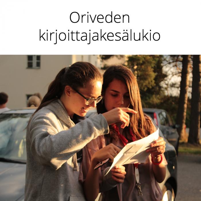 Oriveden kirjoittajakesälukio 3.–9.8.2020