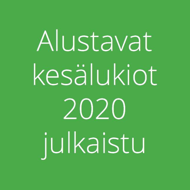 Alustavat kesälukiot 2020 julkaistu
