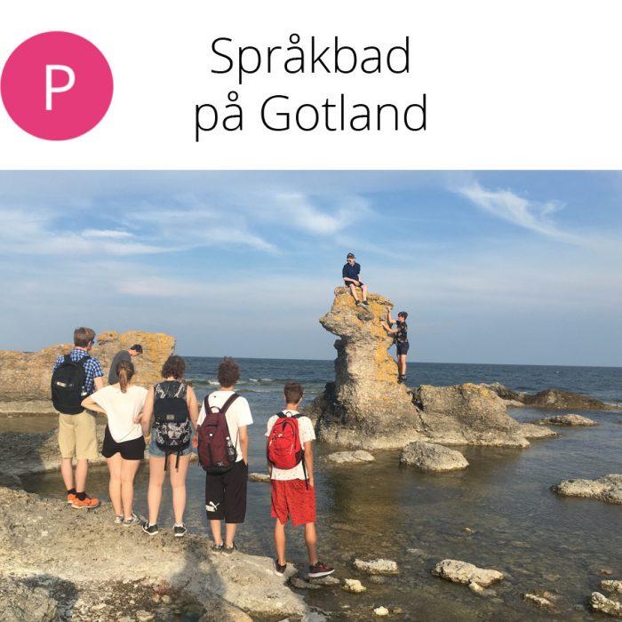 Språkbad på Gotland 8.–15.7.2021