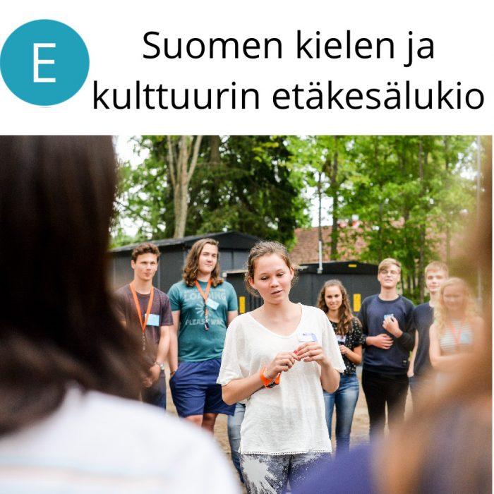 Suomen kielen ja kulttuurin etäkesälukio 26.7.–1.8.2021