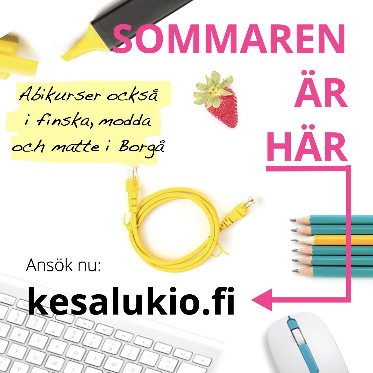 Ansök till sommargymnasier 2021: abikurser också i finska, modda och matte i Borgå